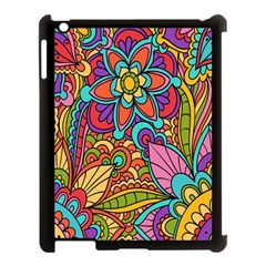 Festive Colorful Ornamental Background Apple iPad 3/4 Case (Black)