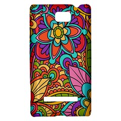 Festive Colorful Ornamental Background HTC 8S Hardshell Case