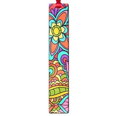 Festive Colorful Ornamental Background Large Book Marks