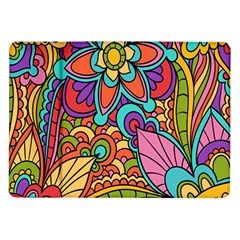Festive Colorful Ornamental Background Samsung Galaxy Tab 10.1  P7500 Flip Case