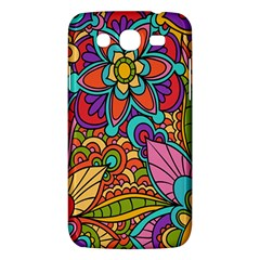 Festive Colorful Ornamental Background Samsung Galaxy Mega 5.8 I9152 Hardshell Case