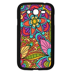 Festive Colorful Ornamental Background Samsung Galaxy Grand DUOS I9082 Case (Black)