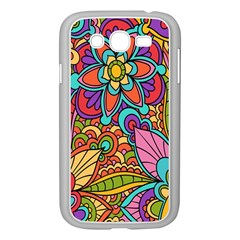 Festive Colorful Ornamental Background Samsung Galaxy Grand DUOS I9082 Case (White)