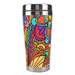 Festive Colorful Ornamental Background Stainless Steel Travel Tumblers