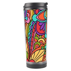 Festive Colorful Ornamental Background Travel Tumbler
