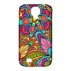 Festive Colorful Ornamental Background Samsung Galaxy S4 Classic Hardshell Case (PC+Silicone)