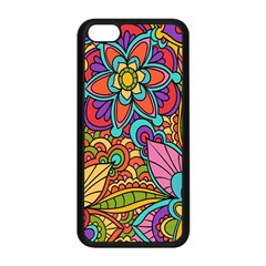 Festive Colorful Ornamental Background Apple iPhone 5C Seamless Case (Black)