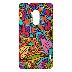 Festive Colorful Ornamental Background HTC One Max (T6) Hardshell Case