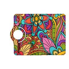 Festive Colorful Ornamental Background Kindle Fire HD (2013) Flip 360 Case