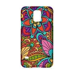 Festive Colorful Ornamental Background Samsung Galaxy S5 Hardshell Case