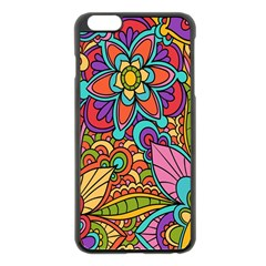Festive Colorful Ornamental Background Apple iPhone 6 Plus/6S Plus Black Enamel Case