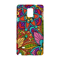 Festive Colorful Ornamental Background Samsung Galaxy Note 4 Hardshell Case