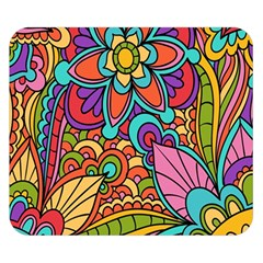Festive Colorful Ornamental Background Double Sided Flano Blanket (Small)