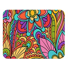 Festive Colorful Ornamental Background Double Sided Flano Blanket (Large)
