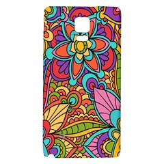 Festive Colorful Ornamental Background Galaxy Note 4 Back Case