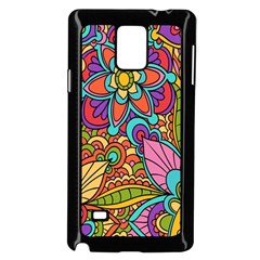 Festive Colorful Ornamental Background Samsung Galaxy Note 4 Case (Black)