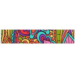 Festive Colorful Ornamental Background Flano Scarf (Large)