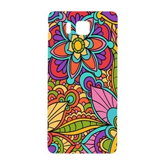 Festive Colorful Ornamental Background Samsung Galaxy Alpha Hardshell Back Case