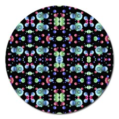 Multicolored Galaxy Pattern Magnet 5  (Round)