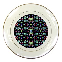 Multicolored Galaxy Pattern Porcelain Plates