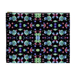 Multicolored Galaxy Pattern Cosmetic Bag (XL)