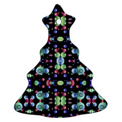 Multicolored Galaxy Pattern Christmas Tree Ornament (2 Sides)