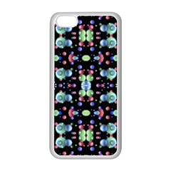 Multicolored Galaxy Pattern Apple iPhone 5C Seamless Case (White)