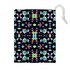 Multicolored Galaxy Pattern Drawstring Pouches (Extra Large)