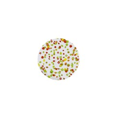 Colorful Fall Leaves Background 1  Mini Buttons