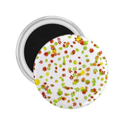 Colorful Fall Leaves Background 2.25  Magnets