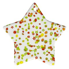 Colorful Fall Leaves Background Ornament (Star)