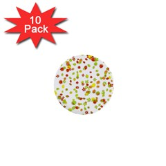Colorful Fall Leaves Background 1  Mini Buttons (10 pack)