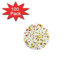 Colorful Fall Leaves Background 1  Mini Magnets (100 pack)