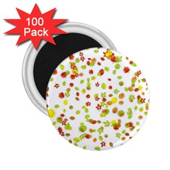 Colorful Fall Leaves Background 2.25  Magnets (100 pack)