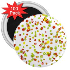 Colorful Fall Leaves Background 3  Magnets (100 pack)