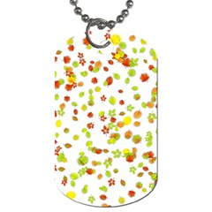 Colorful Fall Leaves Background Dog Tag (One Side)