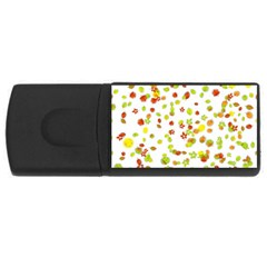 Colorful Fall Leaves Background USB Flash Drive Rectangular (1 GB)