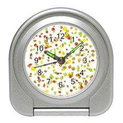 Colorful Fall Leaves Background Travel Alarm Clocks