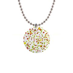 Colorful Fall Leaves Background Button Necklaces