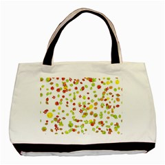 Colorful Fall Leaves Background Basic Tote Bag