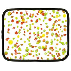 Colorful Fall Leaves Background Netbook Case (Large)
