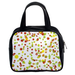 Colorful Fall Leaves Background Classic Handbags (2 Sides)