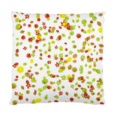 Colorful Fall Leaves Background Standard Cushion Case (Two Sides)