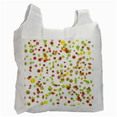 Colorful Fall Leaves Background Recycle Bag (Two Side)