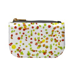 Colorful Fall Leaves Background Mini Coin Purses
