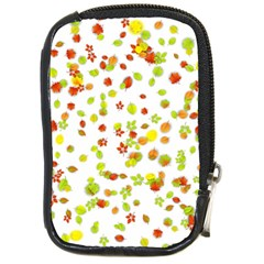Colorful Fall Leaves Background Compact Camera Cases