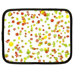 Colorful Fall Leaves Background Netbook Case (XXL)