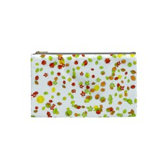 Colorful Fall Leaves Background Cosmetic Bag (Small)