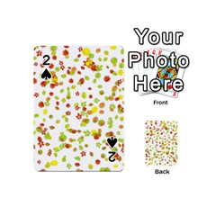 Colorful Fall Leaves Background Playing Cards 54 (Mini)