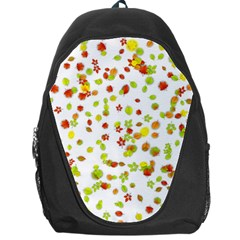 Colorful Fall Leaves Background Backpack Bag